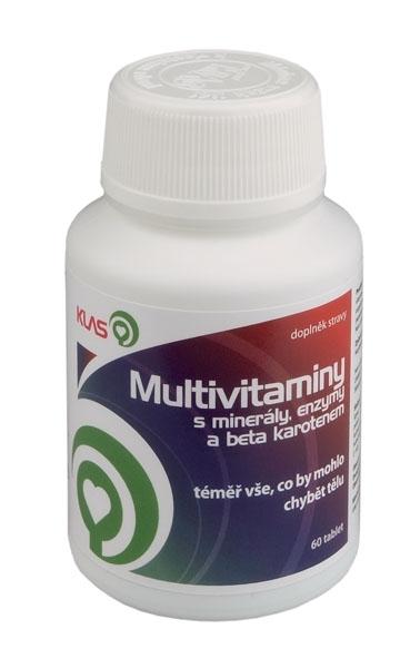 Klas Multivitaminy s minerály, enzymy a beta karotenem, 60 tbl.