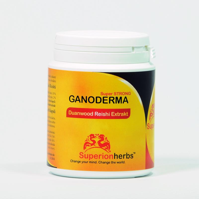 Superionherbs Ganoderma, Duanwood Red Reishi, Extrakt 40% polysacharidů, 90 cps
