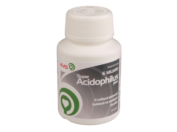 Klas Super Acidophilus plus 6 miliard, 60 cps.