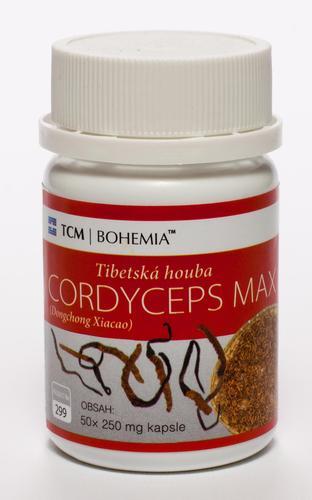 TCM Bohemia Cordyceps MAX, 50 kapslí 250 mg