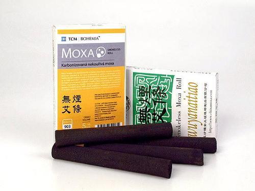 TCM Bohemia Karbonizovaná nekouřivá moxa, 5 ks