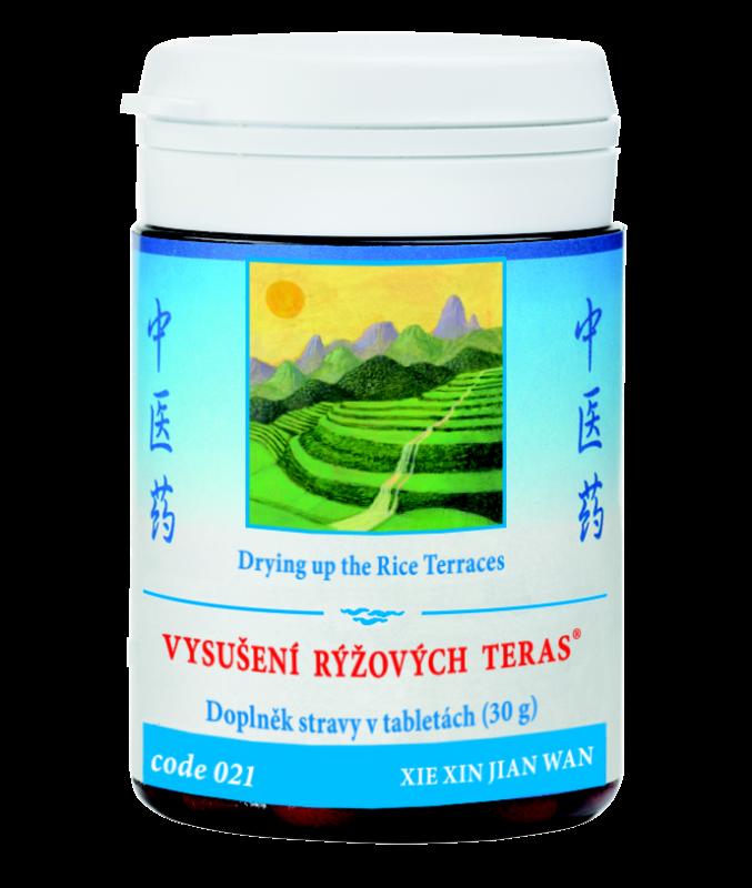 TCM Herbs Vysušení rýžových teras, 100 tbl